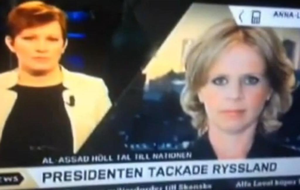 В программе телевизионных новостей был показан порнофильм в фоновом