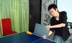 laptop ping-pong