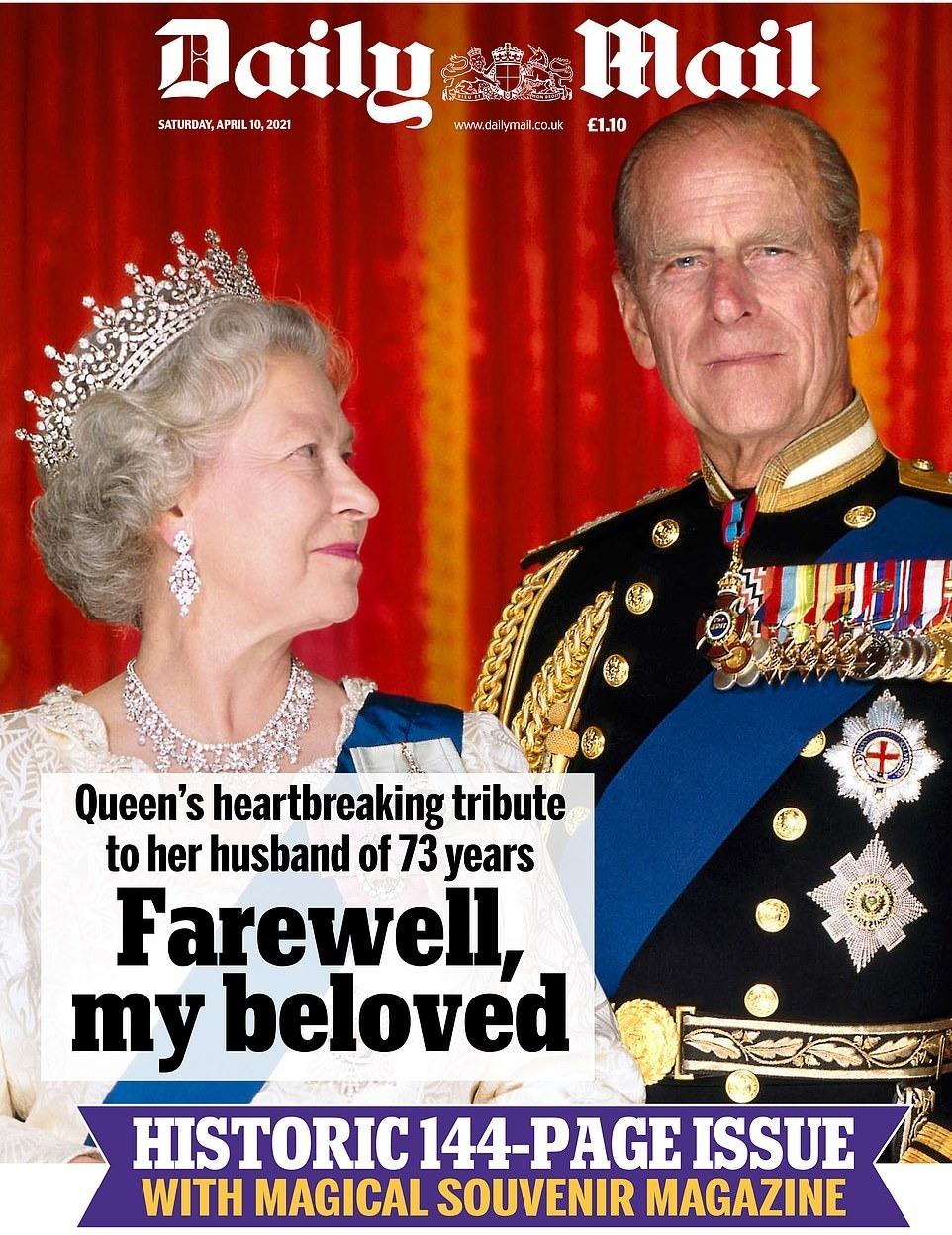 Daily Mail a publicat editia cu cel mai mare numar de pagini din istorie. Cat de gros e ziarul despre viata Printului Philip
