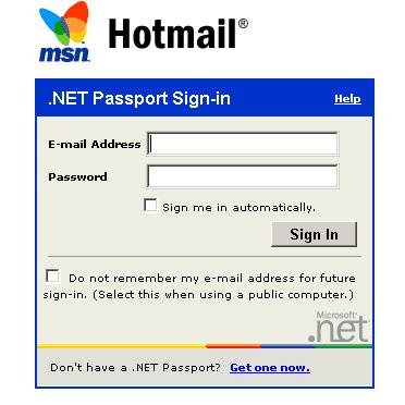Отправить другу. Более 10 тысяч аккаунтов на почтовом сервисе Hotmail